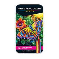 Цветные карандаши Prismacolor Premier 12 цветов в металл. пенале