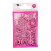 Скріпки круглі фігурні 50шт рожеві L1920-20