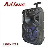 Беспроводная аккумуляторная колонка чемодан Ailiang LiGE-1711, портативная Bluetooth акустика с усилителем, фото 2