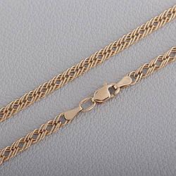 Золотая цепочка ромб тройной с алмазной гранью П33305041