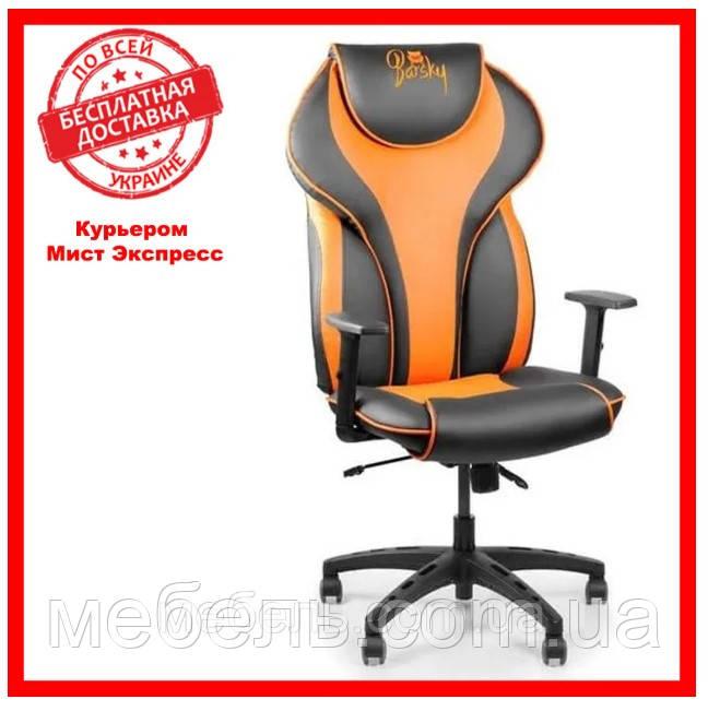 Геймерское компьютерное кресло Barsky Sportdrive Orange Arm_1D Synchro PA_designe BSDsyn-05