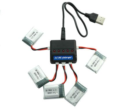 Зарядное устройство для аккумуляторов квадрокоптера, дрона 3.7В
