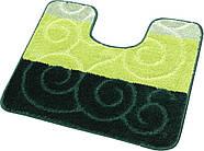 Набор ковриков для ванной и туалета на резиновой основе Hali Circles 2шт 50х80 и 50х40см Зеленый (6147), фото 3