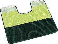 Набор ковриков для ванной и туалета на резиновой основе Hali Spring 2шт 50х80 и 50х40см Зеленый (6170), фото 3