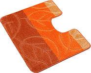 Набор ковриков для ванной и туалета на резиновой основе Hali Autumn 60х100 и 60х50см Оранжевый (6134), фото 3