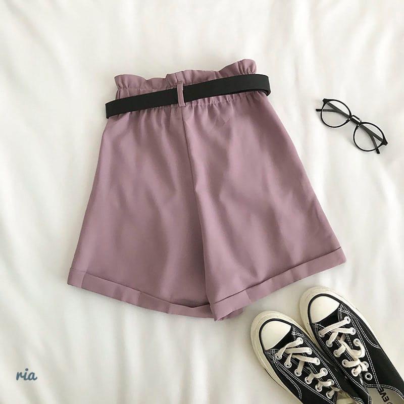 Женские летние шорты на высокой посадке с резинкой на талии и поясом 77shy20