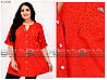 Яркая летняя женская туника-рубашка  горчичного цвета в горошек с 52 по 66 размер, фото 4