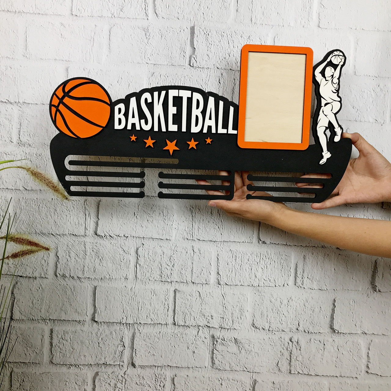 Настенная медальница для спортсмена «Баскетбол»