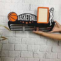 Настенная медальница для спортсмена «Баскетбол», фото 1