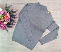 Гольф, водолазки женские, горло стойка, модная Серый, фото 1