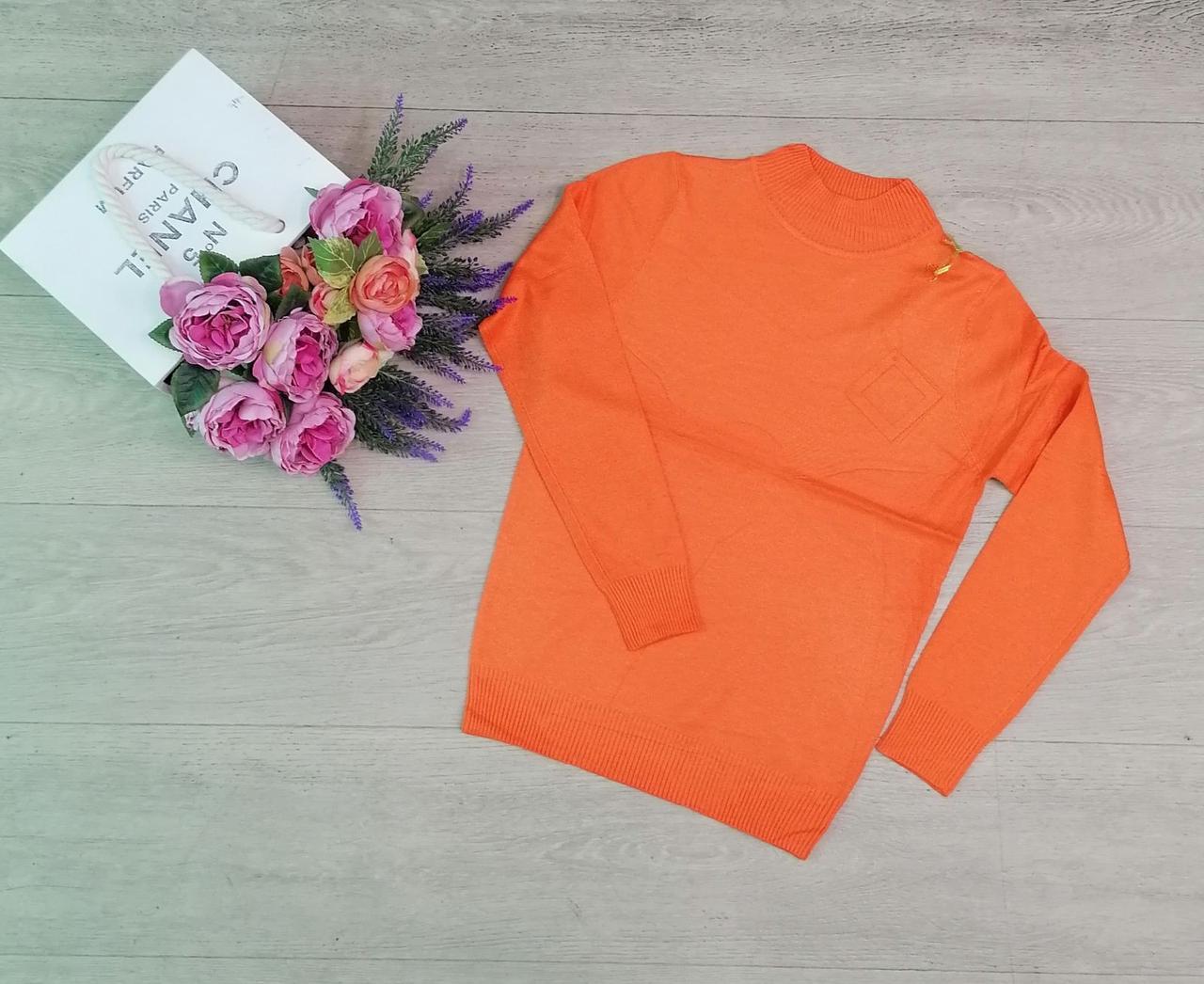 Гольф, водолазки женские, горло стойка, модная Оранжевой