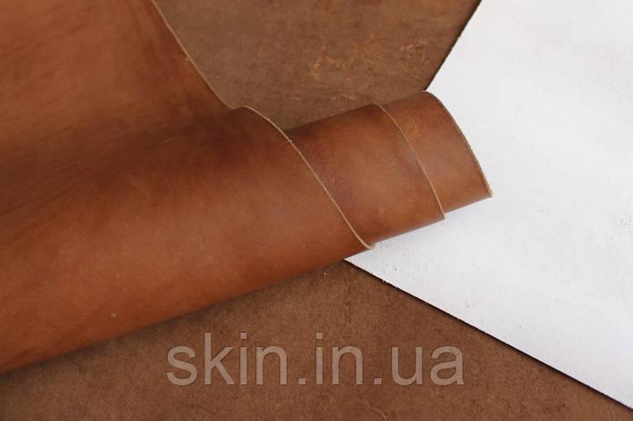 Юфть шорно-седельная орехового цвета, толщина 2.2 мм, арт. СК 1414, фото 2