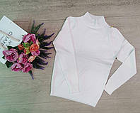 Гольф, водолазки женские, горло стойка, модная Белый, фото 1