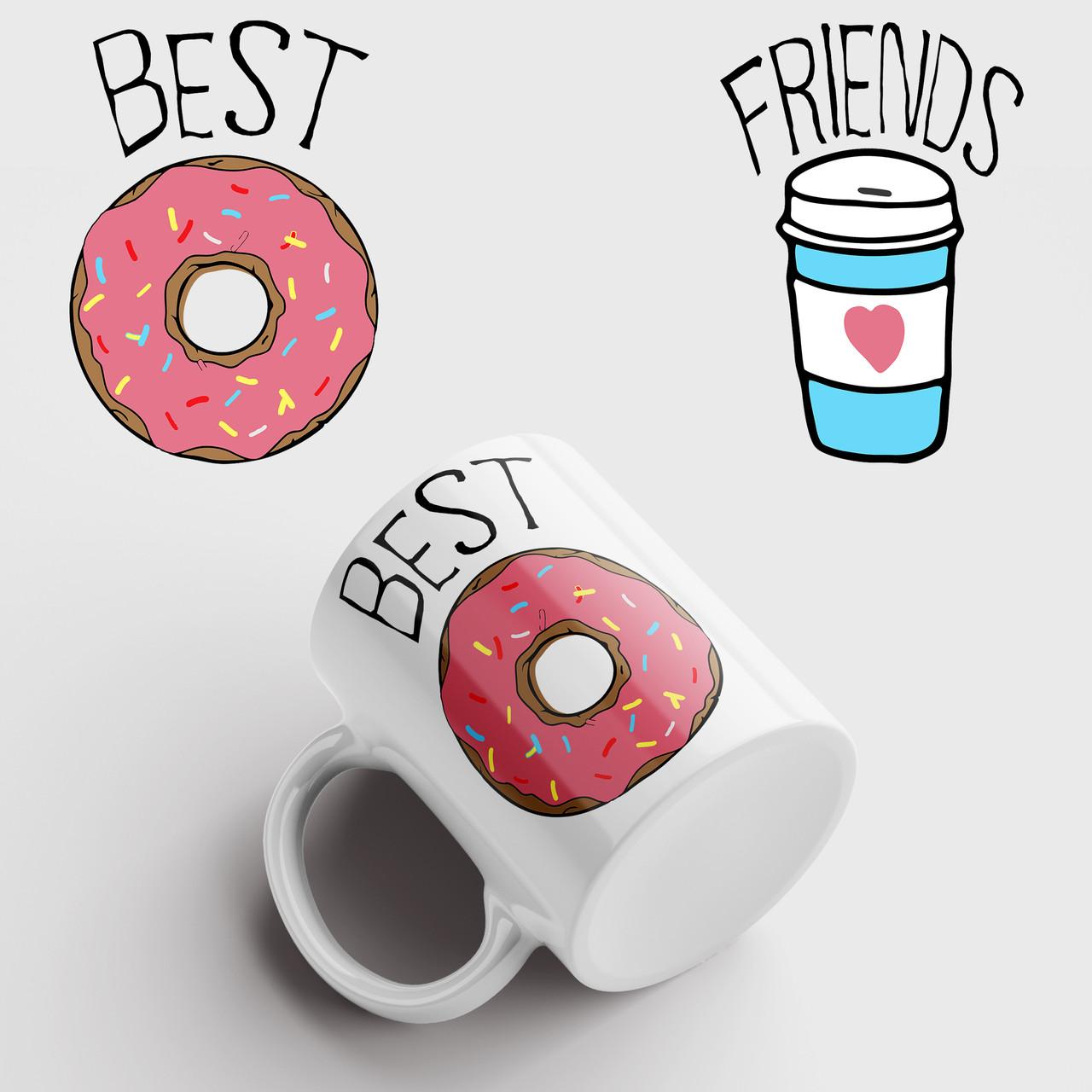 Кружка подарок Best Friends. Чашка с принтом Лучшие друзья. Чашка с фото