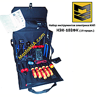 НЕК-102ФК Набір інструментів електрика КВП (19 предметів) (з проф. стріпером)