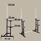 Лава (до 300 кг) + Стійки зі страховкою (до 200 кг) + Штанга і гантелі 105 кг, фото 6