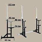 Скамья (до 300 кг) + Стойки со страховкой (до 250 кг) + Штанга 116 кг, фото 8
