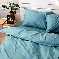 """Однотонные двуспальные комплекты постельного белья """"Голубой"""""""