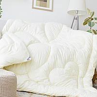 Одеяло с искуственного лебяжего пуха полуторное Кремовое hubmAAJ65112, КОД: 1383981