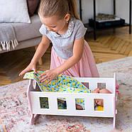 """Деревянная кроватка-люлька """"Соня"""" NestWood для Беби Борна и пупсов розовая, фото 8"""