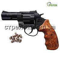 """Револьвер под патрон Флобера Stalker 3"""" black коричневая рукоять"""