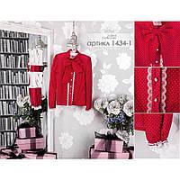 Красная школьная блузка Моне р-ры 122,128,134,146,152