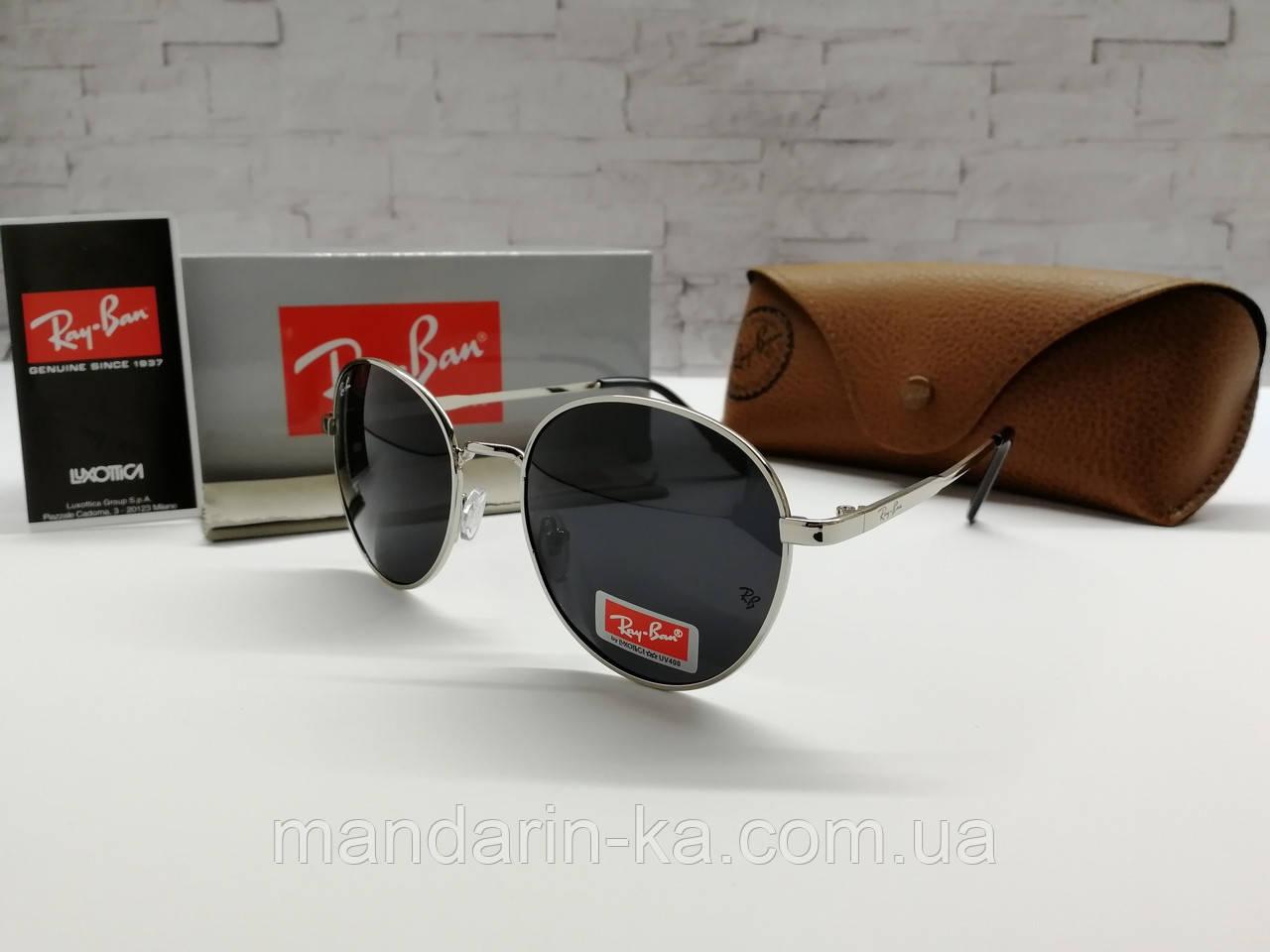Стильные солнцезащитные очки кругляши реплика