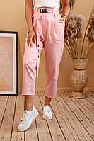 Женские летние укороченный брюки с поясом