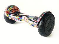 """Гироборд 10,5"""" дюймов с светящимися колесами."""