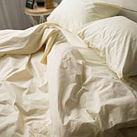 Комплект постельного белья Хлопковые Традиции Евро 200x220 Кремовый PF017евро, КОД: 740673