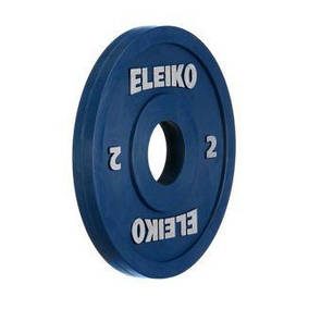 Олимпийский диск Eleiko для соревнований и тренировок 2 кг цветной 124-0020R  (ПРОФКА)