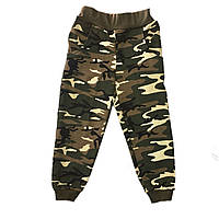 Спортивные штаны на мальчика, камуфляж, 98см