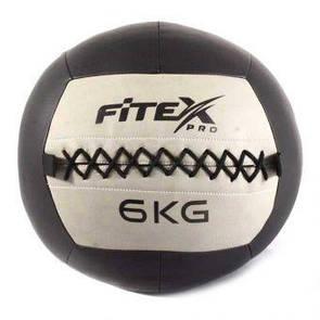 Мяч набивной Fitex MD1242-6, 6 кг  (ПРОФКА)