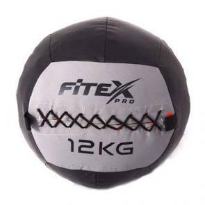 Мяч набивной Fitex MD1242-12, 12 кг  (ПРОФКА)