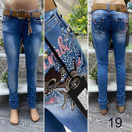 """Модные женские джинсы, ткань """"Эластичный Деним"""" размер 27, фото 2"""