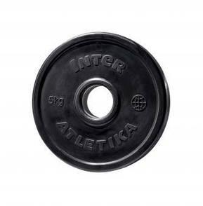 Диск обрезиненный InterAtletika LCA024-M 5 кг  (ПРОФКА)