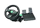Игровой руль с педалями 3 в 1 Vibration Steering Wheel для PS3/PS2/PC | Универсальный руль для игр, фото 4