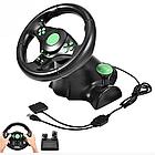 Игровой руль с педалями 3 в 1 Vibration Steering Wheel для PS3/PS2/PC | Универсальный руль для игр, фото 3