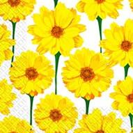 Салфетка Марго 33*33 3сл. Жовті гербери