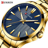 Часы наручные мужские кварцевые Curren 8322 Gold-Blue 1008-0195