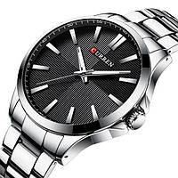 Часы наручные мужские кварцевые Curren 8322 Silver-Black 1008-0182