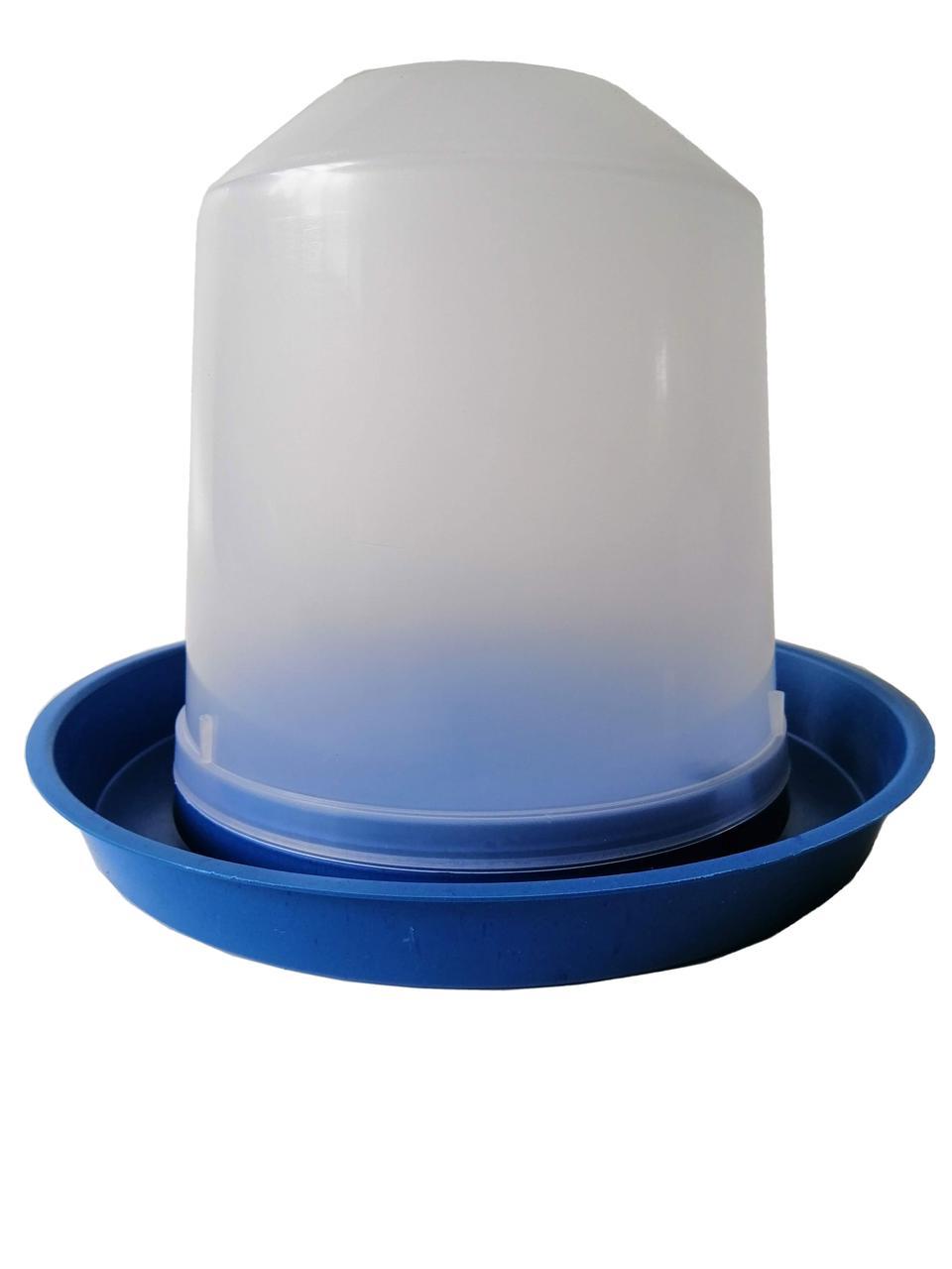 Вакуумная поилка 5 литров для птиц с защелкой