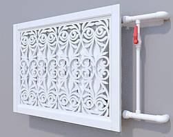 Декоративная решетка на батарею SMARTWOOD | Экран для радиатора | Накладка на батарею Покраска RAL, 1500*600