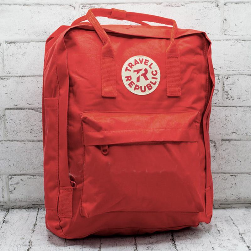 Рюкзак міський повсякденний спортивний Travel Republic Classic жіночий, червоний (для навчання, роботи)