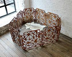 Вольер для собаки КІТ-ПЕС by smartwood   Ограждение для собак в квартире   Манеж для собаки из дерева VIOLET, Рисунок 5, 890