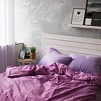 Комплект постельного белья Хлопковые Традиции Евро 200x220 Сиреневый PF03евро, КОД: 353869