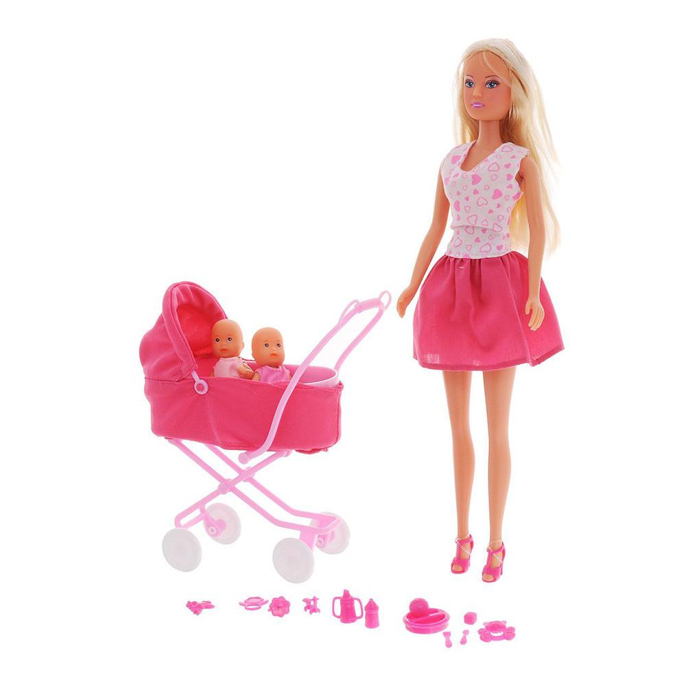 Уценка Кукла Simba Штеффи в юбке с коляской (5738060_in a skirt)