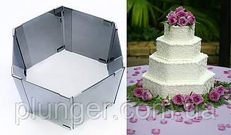 Форма для выпечки металлическая раздвижная Шестиугольник 8.5 см