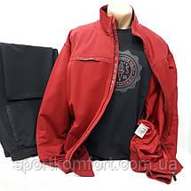 Прогулочный мужской  трикотажный костюм Soccer Турция бордо/тёмно-синий размер 6хл обмен/возврат, фото 3