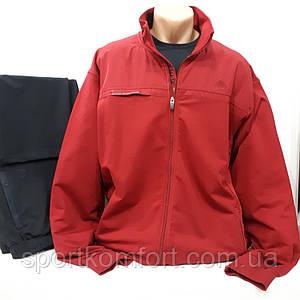Прогулянковий чоловічий трикотажний костюм Soccer, Туреччина, бордо/темно-синій, розміри 4хл, 6хл, обмін/повернення.